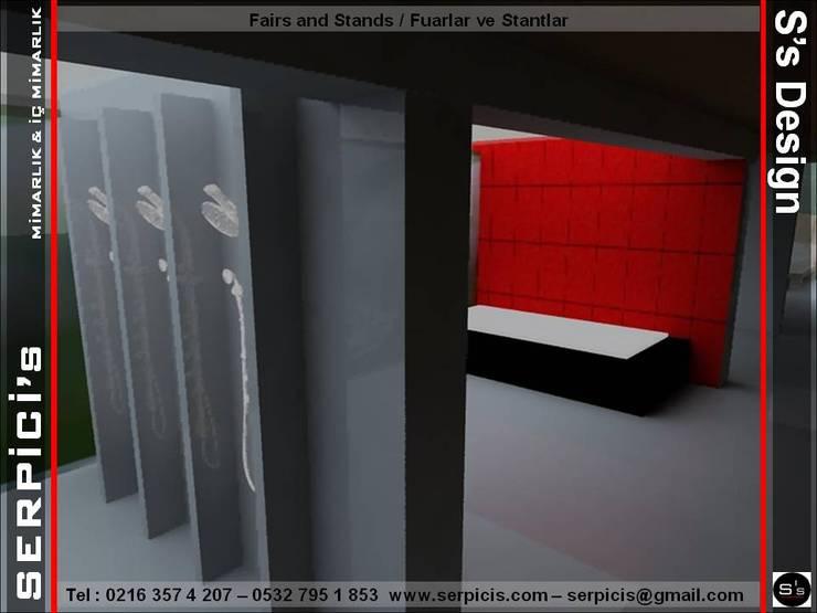 SERPİCİ's Mimarlık ve İç Mimarlık Architecture and INTERIOR DESIGN – ECA – FUAR PROJE TASARIM ve UYGULAMALARI – SERPİCİ's MİMARLIK ve İÇ MİMARLIK – S's Desıgn:  tarz Etkinlik merkezleri, Modern Ahşap Ahşap rengi