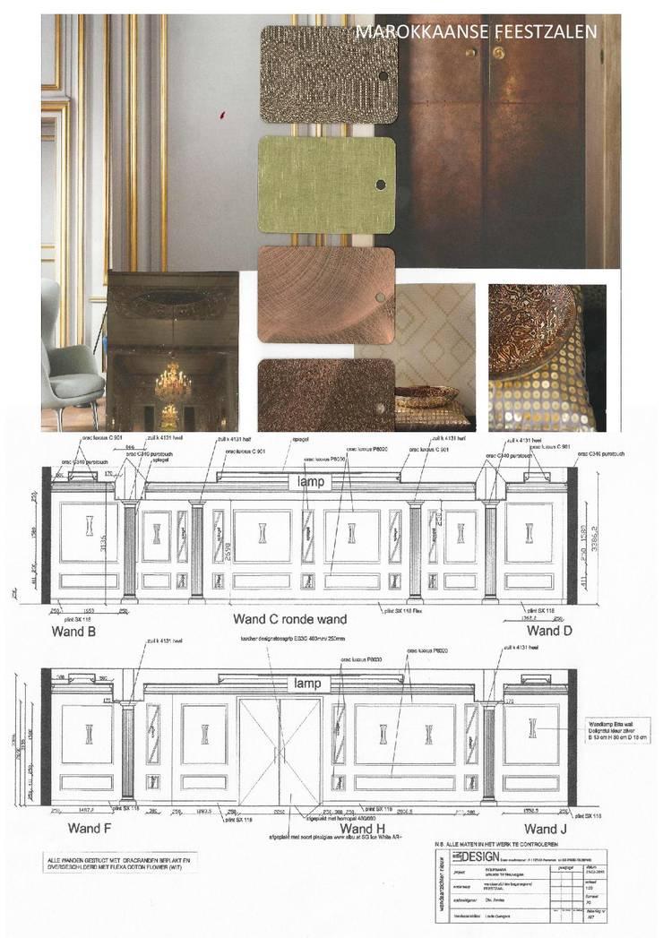 Marokkaanse feestzalen te Nieuwegein:  Evenementenlocaties door LINDESIGN Amsterdam Ontwerp Design Interieur Industrieel Meubels Kunst, Klassiek Zilver / Goud