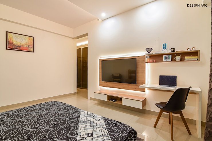 Apartment Interior Design Bangalore 4BHK:   by Design Arc Interiors