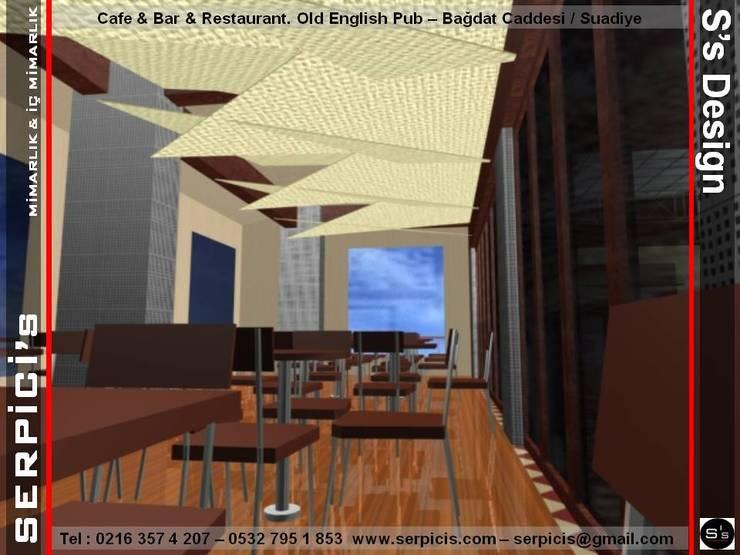 SERPİCİ's Mimarlık ve İç Mimarlık Architecture and INTERIOR DESIGN – SERPİCİ's MİMARLIK ve İÇ MİMARLIK – S's Desıgn – KAFE BAR RESTAURANT PROJELERİ:  tarz Bar & kulüpler, Rustik Ahşap-Plastik Kompozit