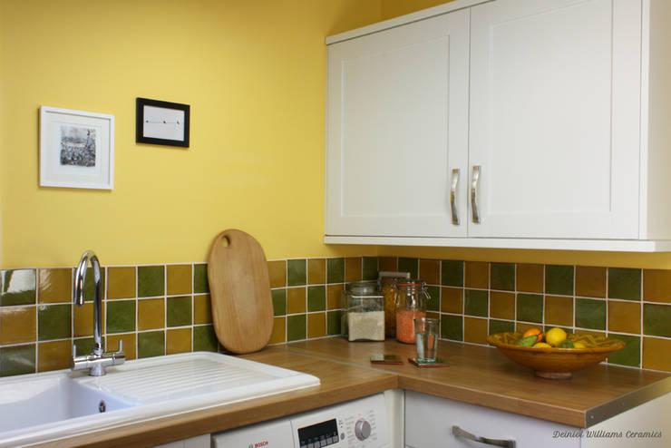 Green & Yellow Wall Tiles | Traditional Range:  Walls by Deiniol Williams Ceramics