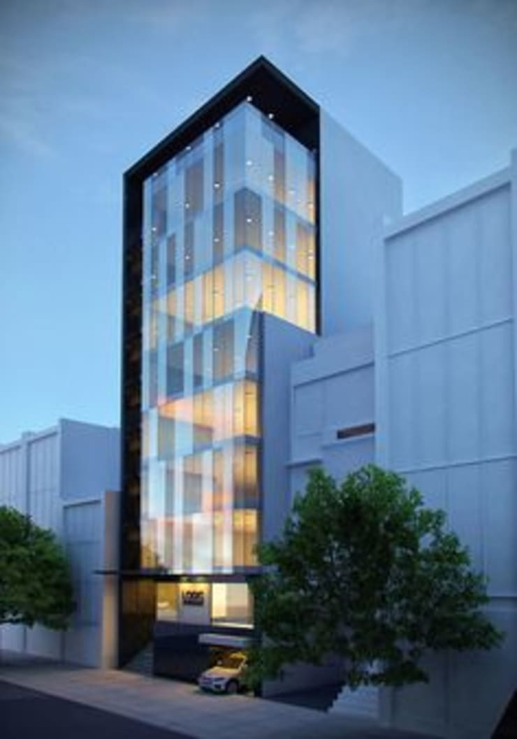 Elevation:  Hotels by NEW AGE ARCHITECTURAL SYSTEMS.