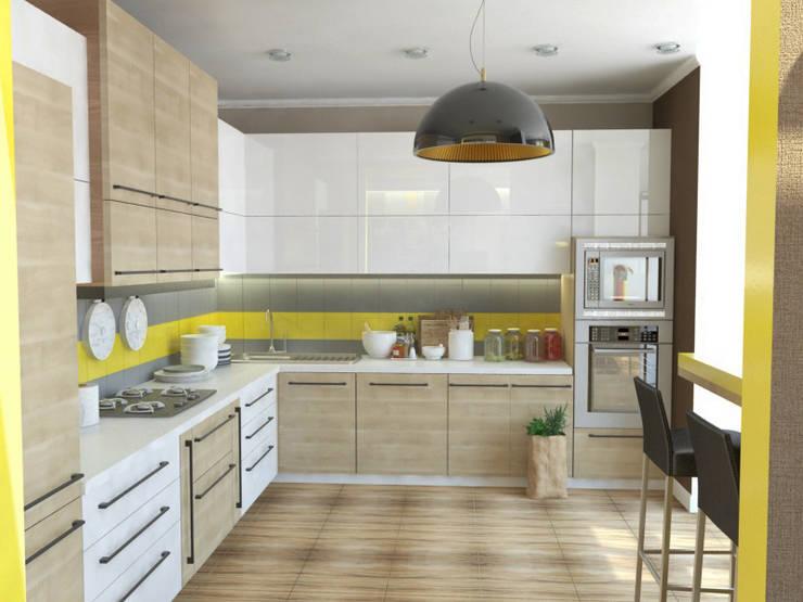 Квартира - кухня: Кухни в . Автор – Первое Дизайн-Бюро