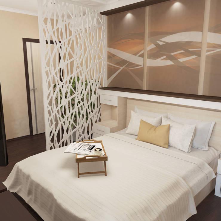 Коттедж - спальная: Спальни в . Автор – Первое Дизайн-Бюро