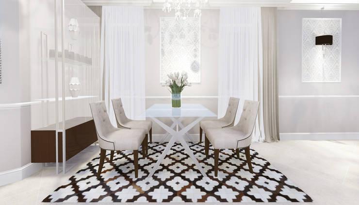 apartment: eclectic Dining room by KOKON zespół architektoniczny