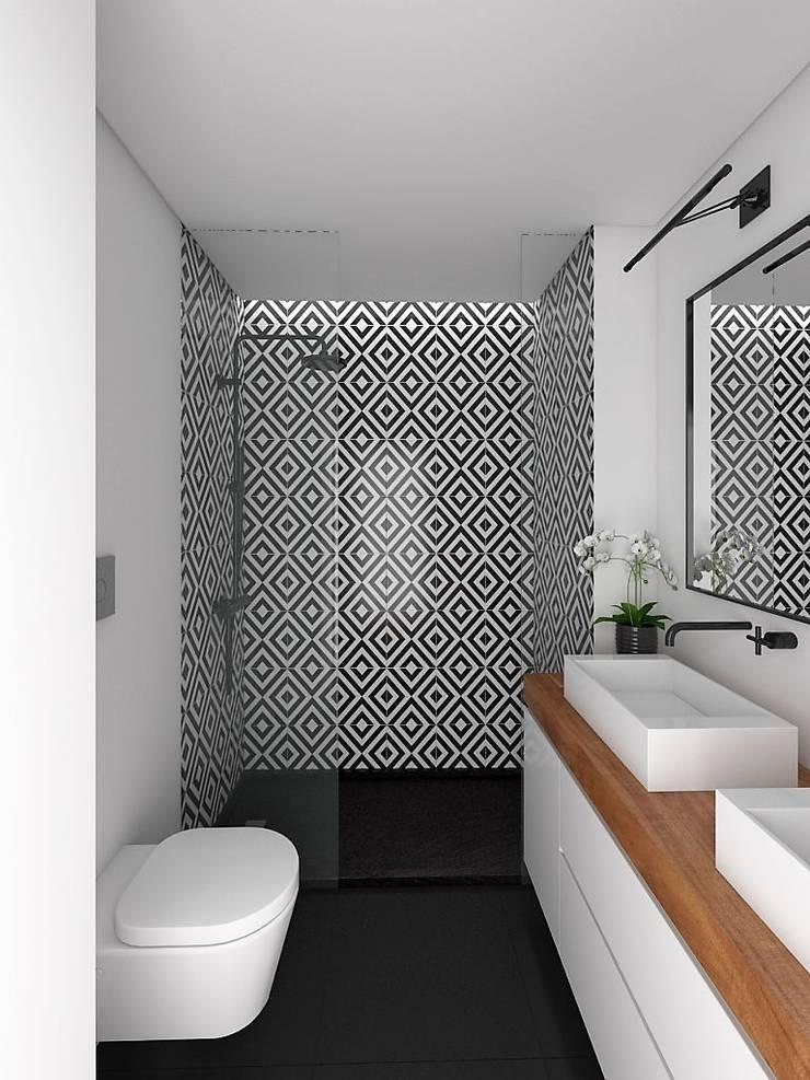 APARTAMENTO - T3 DUPLEX -  ESTRELA: Casas de banho  por EU LISBOA