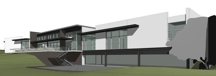 Club House de Golf ecológico:   por 2levels, Arquitetura e Engenharia, Lda