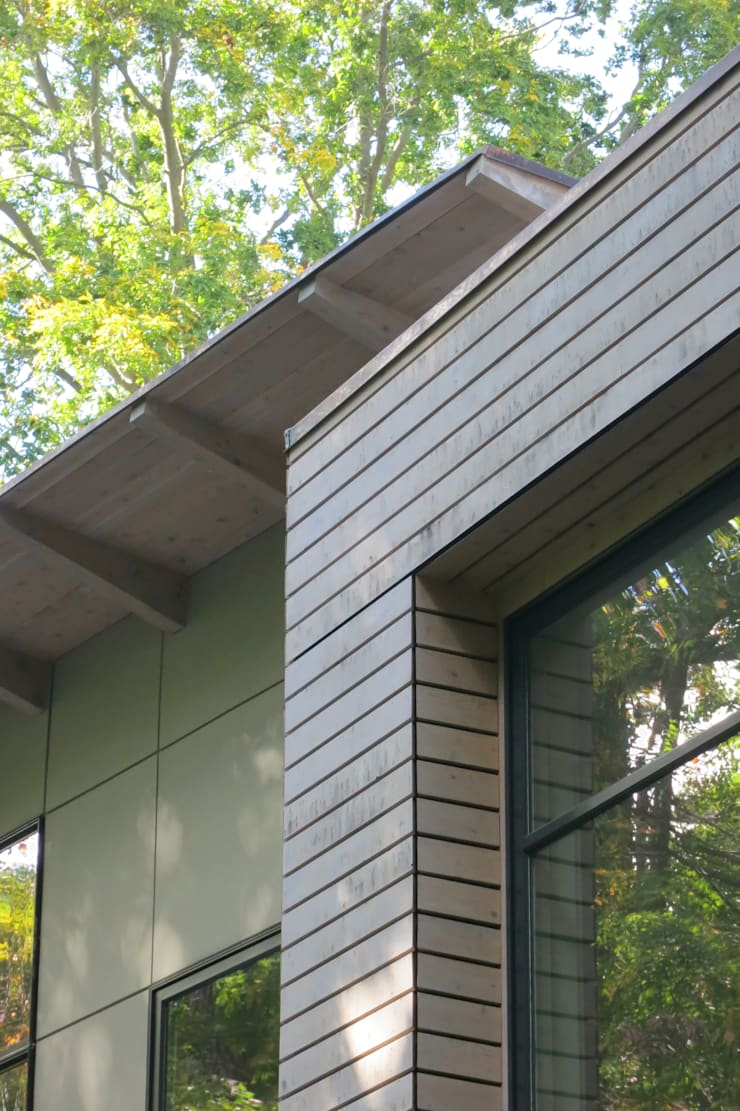 exterior close-up: modern Houses by JMKA architects