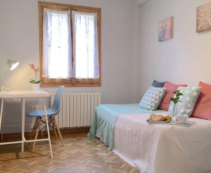 Projekty,  Sypialnia zaprojektowane przez Noelia Villalba