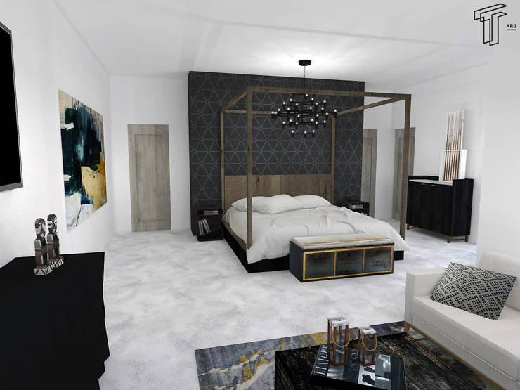modern Bedroom by TAMEN arquitectura