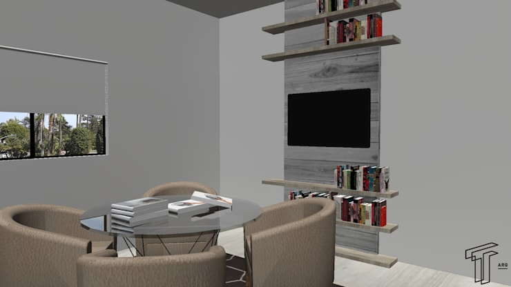 Oficinas de estilo  por TAMEN arquitectura