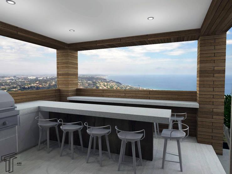 Projekty,  Taras zaprojektowane przez TAMEN arquitectura