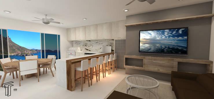 Kitchen by TAMEN arquitectura