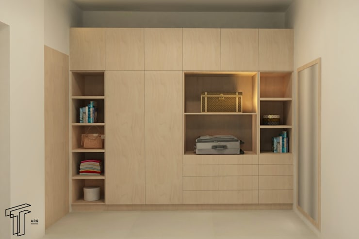Dressing room by TAMEN arquitectura