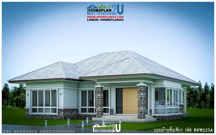 แบบบ้านชั้นเดียว HPM123A:   by แบบแปลนบ้านสำเร็จรูป