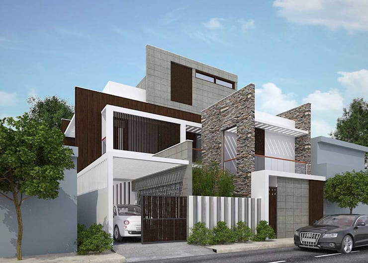 Bungalow Architecture Design:  Houses by DLEA,Modern