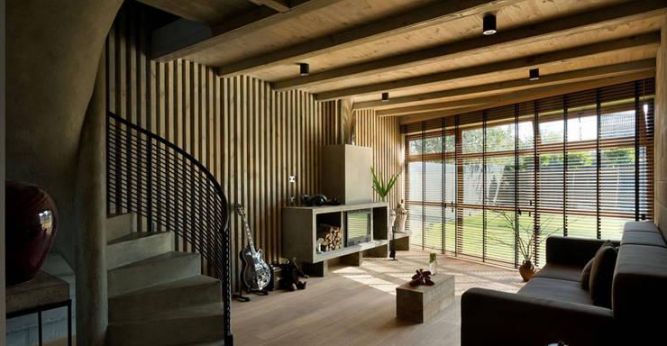 Architecture Interiors:  Corridor, hallway & stairs  by HN Neo Design & Build pvt. Ltd