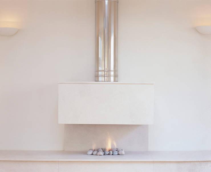 غرفة المعيشة تنفيذ The Platonic Fireplace Company
