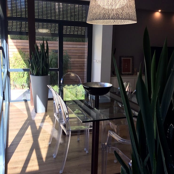 Proyecto de integración de salón comedor con exterior – jardín en ...