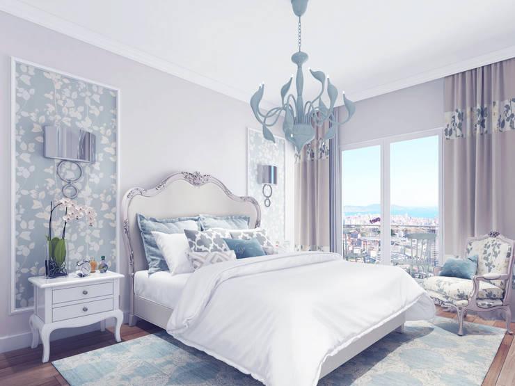 غرفة نوم تنفيذ Ammar Bako design studio
