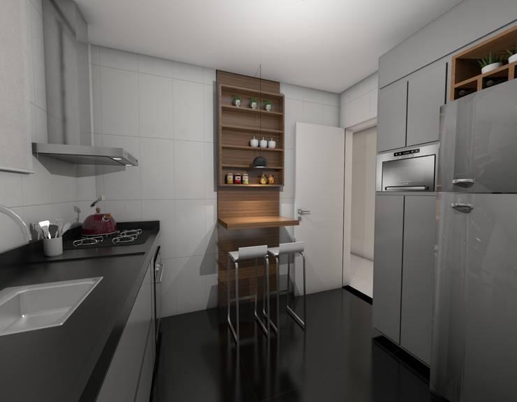 Cocinas de estilo moderno por Nayla Diniz Arquitetura
