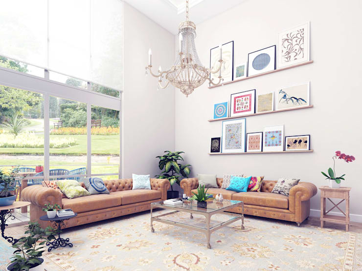 Livings de estilo  por Ammar Bako design studio