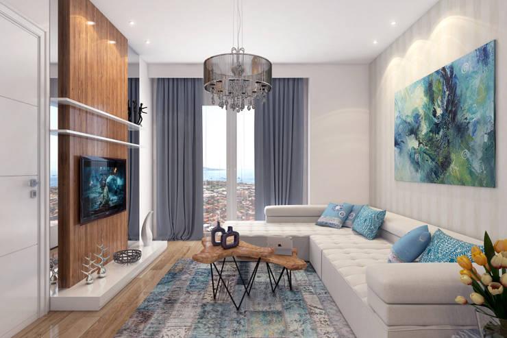 Livings de estilo moderno por Ammar Bako design studio