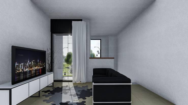 CASA CM: Salas multimedia de estilo  por ARBOL Arquitectos ,