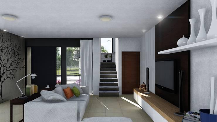 CASA CM: Livings de estilo  por ARBOL Arquitectos ,