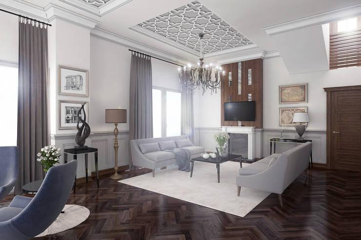 Living Hall - Bolu City - Turkey: modern Living room by Ammar Bako design studio