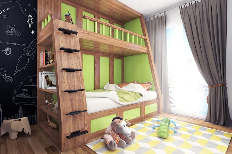 Boy's bedroom - Istanbul - Turkey 2015:  Nursery/kid's room by Ammar Bako design studio