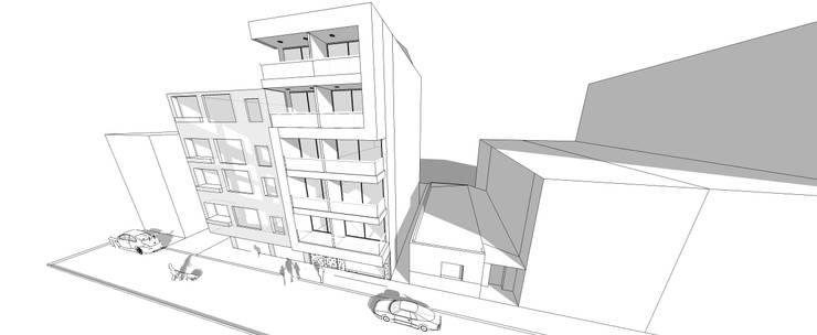 Torre Ángel: Terrazas de estilo  por Le.tengo Arquitectos
