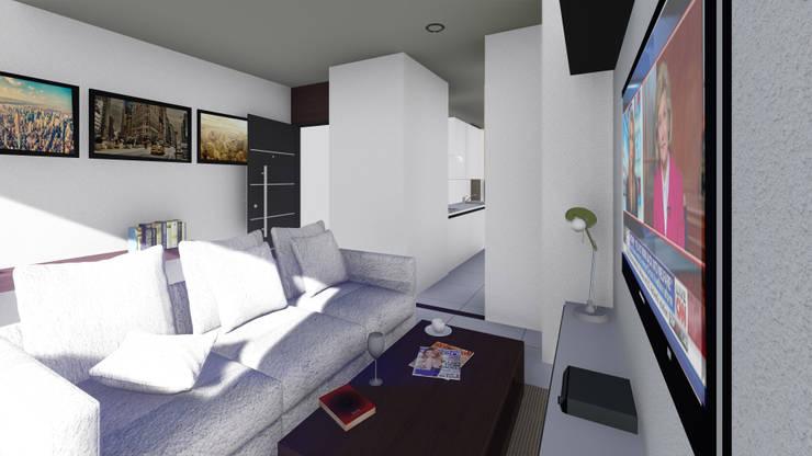 Torre Ángel: Comedores de estilo  por Le.tengo Arquitectos