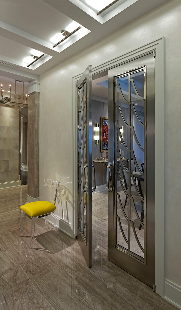 Art Deco Doors:  Corridor & hallway by Douglas Design Studio