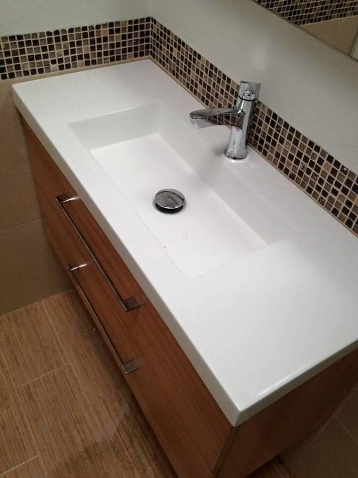 Mobiliario lavamanos:  de estilo  por L&G Arquitectos
