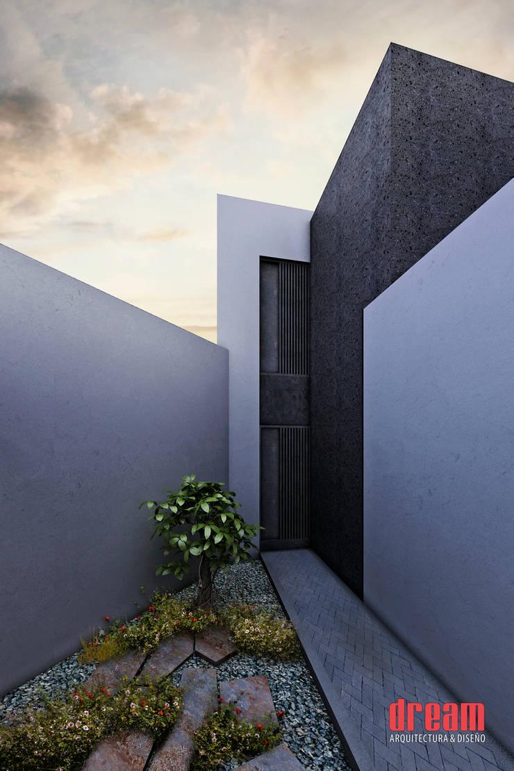 VISTA EXTERIOR: Casas de estilo  por Estudio Meraki