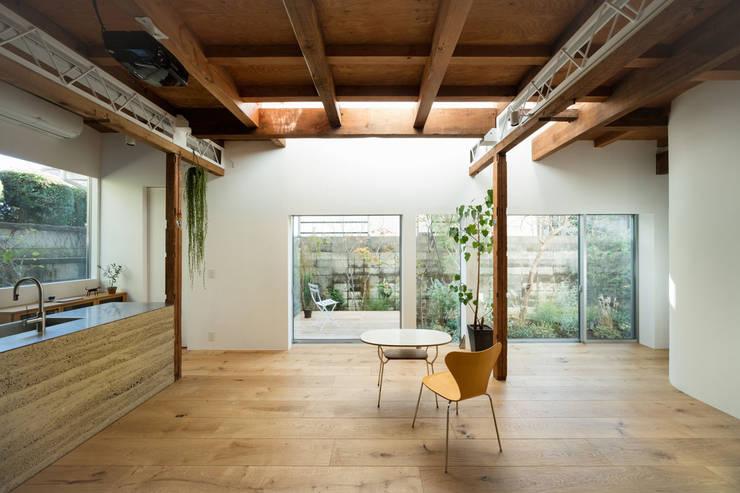 武蔵境の家: ディンプル建築設計事務所が手掛けたダイニングです。