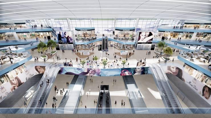 Shenzhen Airport Satellite Concourse, China, by Aedas:  Airports by Aedas