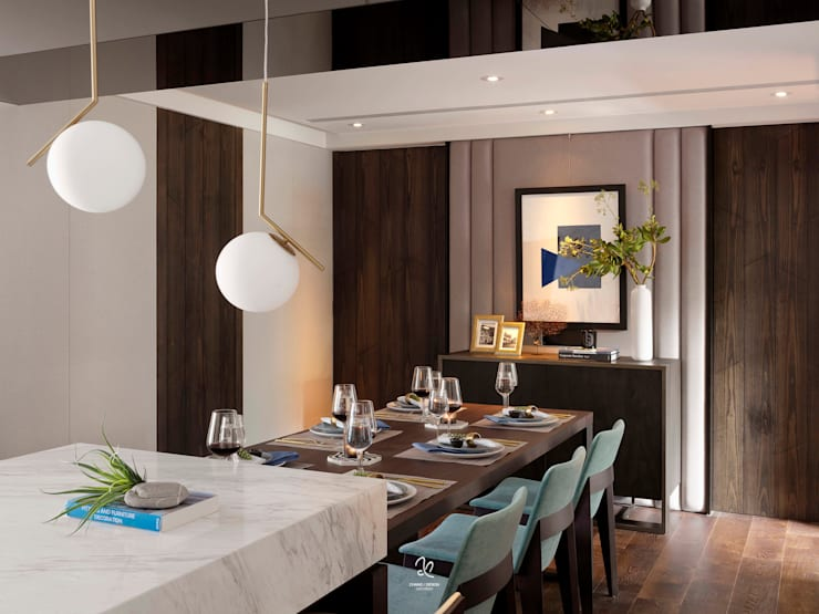 異彩隱映 內斂居家美學:  餐廳 by 成綺空間設計