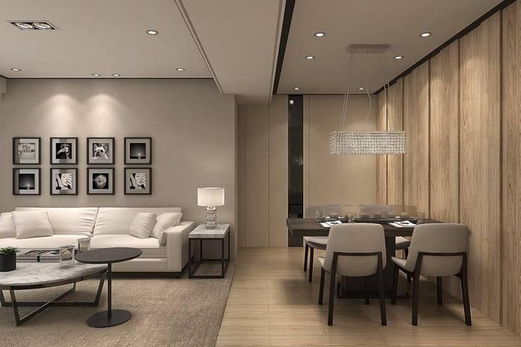 高公館:  客廳 by 成綺空間設計