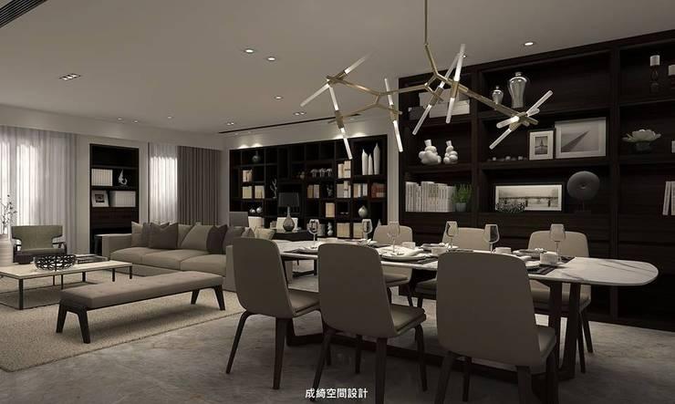 王公館:  客廳 by 成綺空間設計