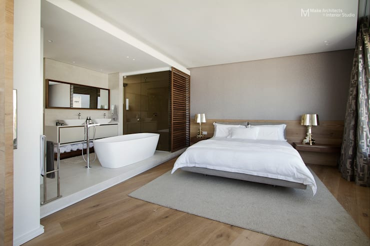 Clifton Apartment:  Bedroom by Make Architects + Interior Studio