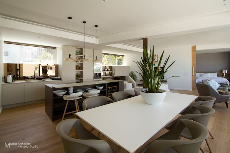 Clifton Apartment:  Dining room by Make Architects + Interior Studio, Modern