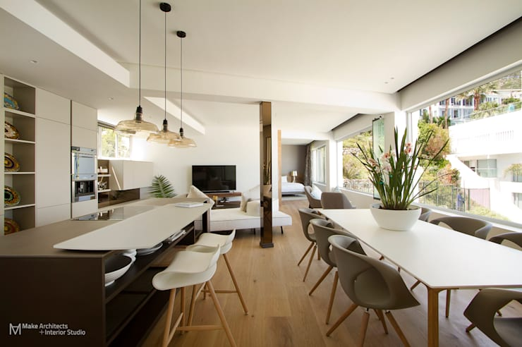 Clifton Apartment:  Dining room by Make Architects + Interior Studio