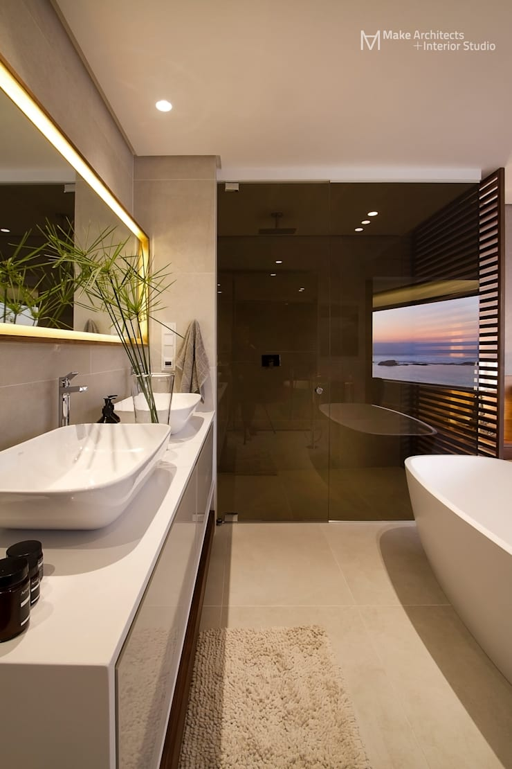 Clifton Apartment:  Bathroom by Make Architects + Interior Studio