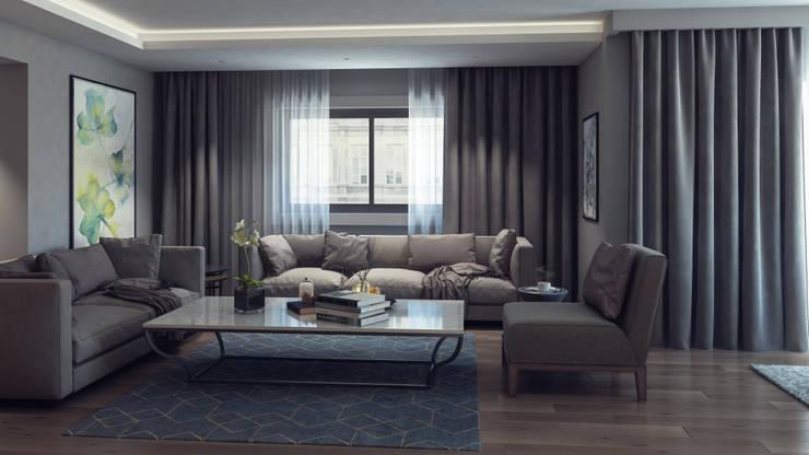 Moderne Wohnzimmer von De I Studio - 3D Mimari Görselleştirme ve Animasyon Hizmetleri Modern