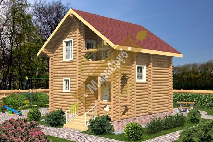 """Компактный садовый домик из бревна с мансардой """"Сказка"""": Дома в . Автор – Марисруб"""