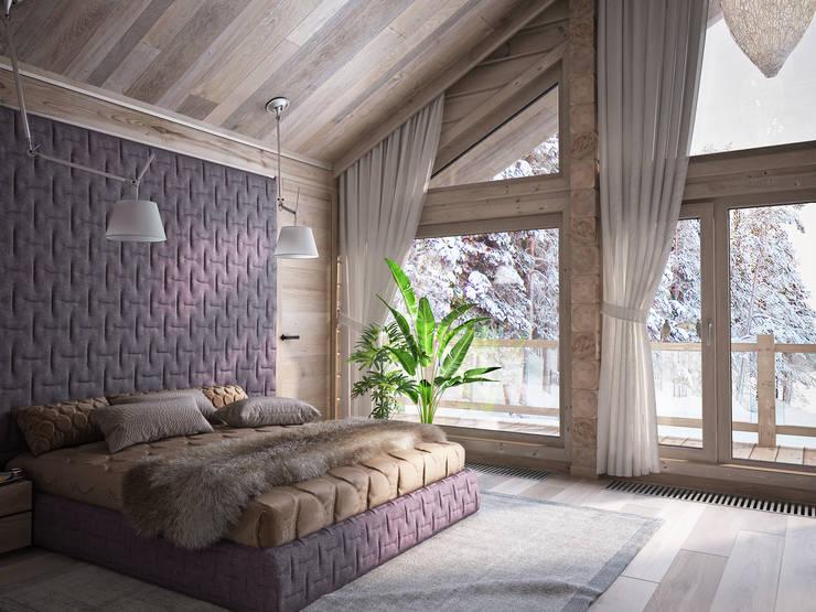 Projekty,  Sypialnia zaprojektowane przez премиум интериум