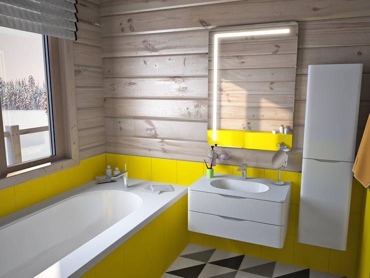 Projekty,  Łazienka zaprojektowane przez премиум интериум