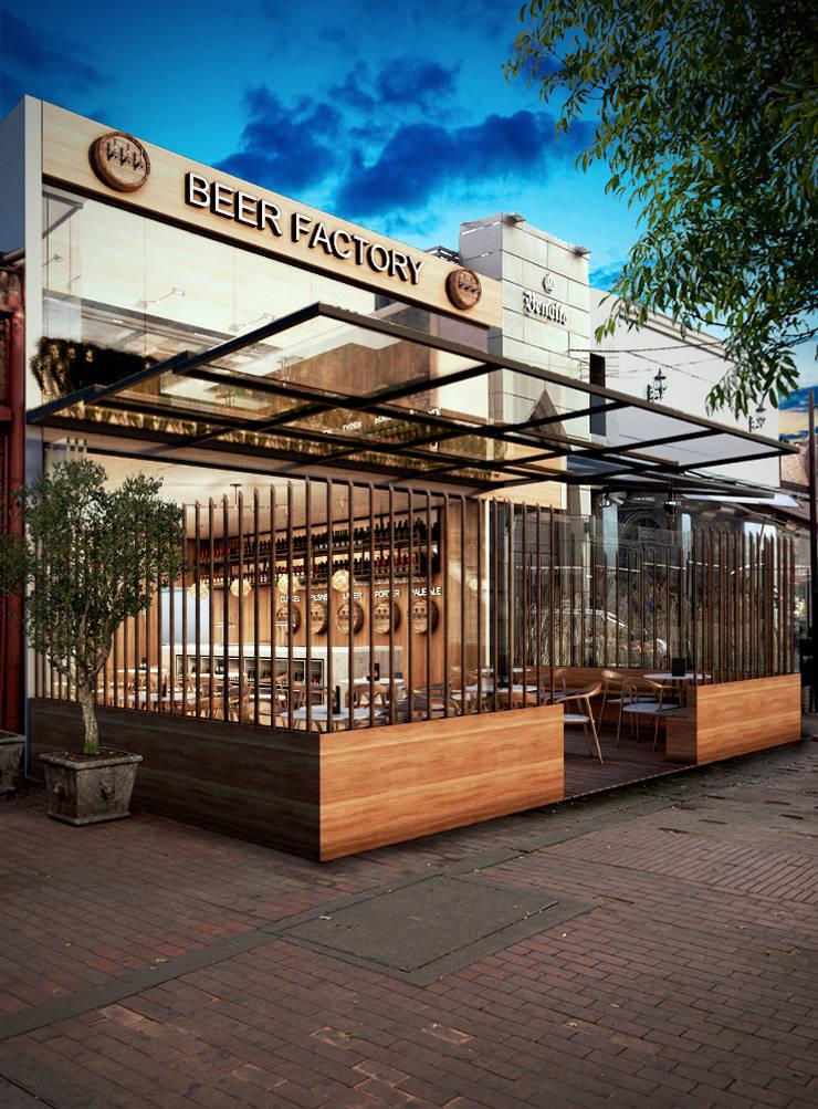 Pub – Bogotá: Casas de estilo moderno por Arquitectura y Diseño Digital